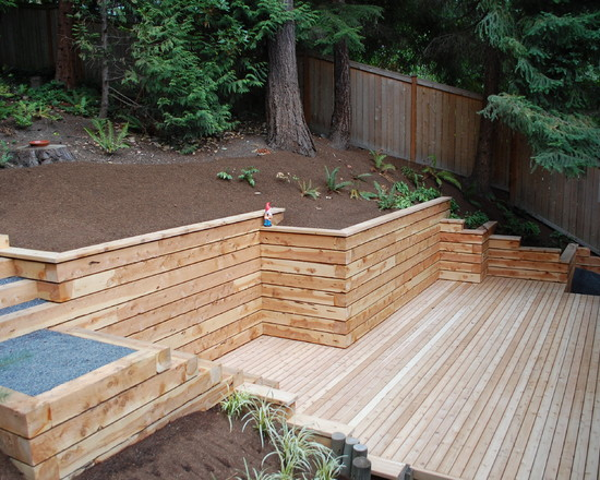 Home retaining walls auckland for Wooden garden wall ideas